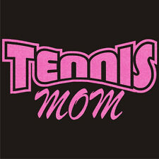 Ladies TENNIS MOM Pride T-Shirt Cute Glitter Mother's Day Tee 18 Colors XS - 3XL