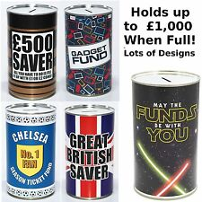 Large Saving Tins - £500 Saver Fund, Keep Calm Fund - Novelty Money Saving Tins
