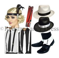 1920s GANGSTER FLAPPER CHARELESTON FANCY DRESS 20'S ACCESSORIES - CHOOSE ITEMS
