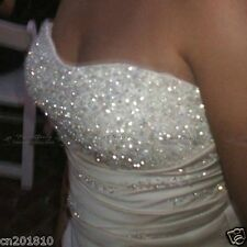 Faironly Stock Crystal Empire Wedding Dresses Bridal Gown Size 6- 8 10 12 14 16