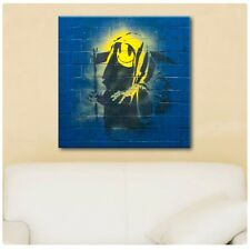 LARGE Canvas Banksy Grim Reaper Graffiti decor giclee poster reproduction art
