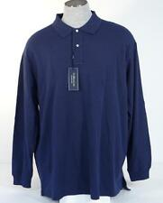 Ralph Lauren Navy Blue Long Sleeve Polo Shirt 100% Cotton Mens NWT