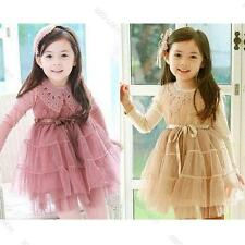 1PCS Girls Kids Toddlers Princess Party Elegant Dress Fairy Beauty Clothes S2-7Y