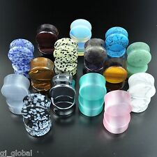 ~ALL 15 PAIR~Organic Natural Polished Stone Ear Gauges Plugs Saddle Double Flare