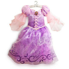 NWT DISNEY STORE PRINCESS RAPUNZEL DRESS COSTUME GOWN GIRLS TANGLED SUMMER 2013