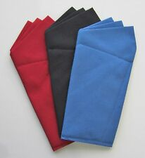 Wing Style Custom Pocket Square -Various Colors Prefolded & Sewn to Just Slip In
