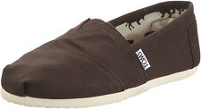 NEW MEN TOMS CLASSICS CANVAS SLIP ON CHOCOLATE BROWN 001001A10 ORIGINAL