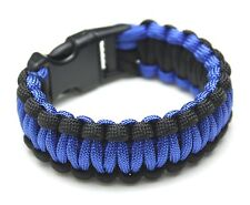 Thin Blue Line Police Military Paracord Survival Bracelet - 3 Sizes Available!
