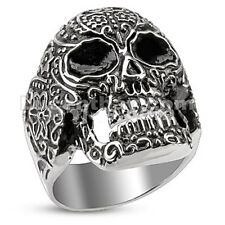 Stainless Steel Day of the Dead Skull Cast Ring