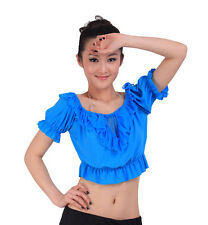 Free Shipping Belly Dance Square dancing Top Choli 10colours available PAYPAL