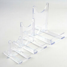 "Sliding Display Stands Twist Clear Plastic 5cm-25cm, 2"" to 10"" Plate,Photo, Bowl"