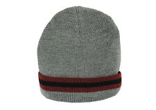 GUCCI MADE IN ITALY 'HAT CROOK' WOOL+SILK BEANIE HAT #206085