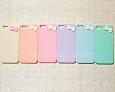 1pc Pastel Cute Candy Color For iPhone 5 5s Hard Case with Kawaii Bow CHOOS