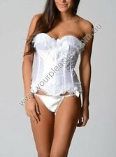 Ladies White Wedding / Bridal Sexy Corset Lingerie sizes 14 16 Colour White
