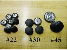 Upholstery buttons-3 sizes_#22-#30-#45 in black vinyl or any other color