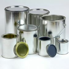 Smaller Lots of Unlined Empty Paint Cans- Gallon, Quart, Pint or 1/2 Pint