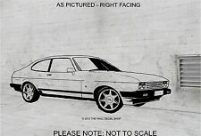 FORD CAPRI 2.8i  CAR - WALL ART STICKER,DECAL - BLACK OUTLINE SHOWN