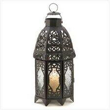 LATTICE CANDLE LANTERNS IN BLACK OR WHITE