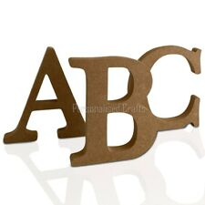 Free Standing Wooden MDF Letters Numbers 18mm Thick! 100mm, 10cm High