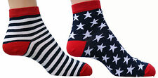 Stars and Stripes Ankle Socks, Short Socks, Trainer Liners, Sports Socks, Cotton
