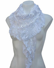 Terra Nomad Women's Sheer Triangle Fashion Scarf with Spirals- New