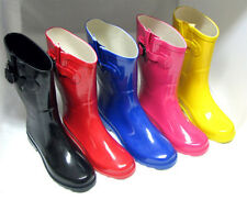 New Womens Wellies Mid Calf Rubber Snow  Rain Boots, Size 5, 6, 7, 8, 9, 10,11