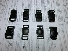 3/8'' (10mm) Contoured Cat Collar Safety Plastic Buckles, 4 Styles, qty pick