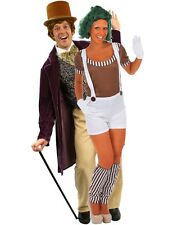 Mens Willy Wonka and Ladies Oompa Loompa Adult Book Fancy Dress Costume Outfit