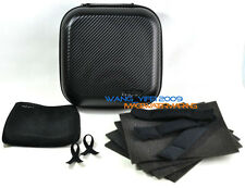 New Version Headphones Travel Carry Case Bag Box Square Design Black Hard AA1