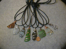One Wire Wrapped Pendant **Genuine Chesapeake Bay Sea Glass** Color Choices