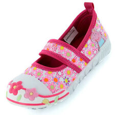 Girls SIZE 4 - 10 PEPPA PIG Pink Canvas Pumps Trainers NEW ELEANOR Infants