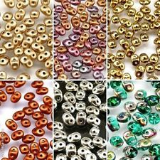 CHOOSE COLOR! 20gr. Czech Glass Two-Hole Seed Beads SUPERDUO (2,5x5mm)