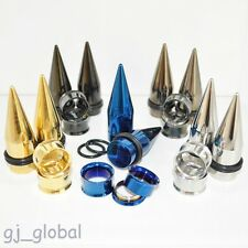 2 Pair Solid Stainless Steel Ear Tapers And Tunnels Stretchers Expanders Gauges