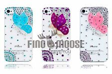 3D Bling Crystal Diamond Fairy Butterfly Case For Apple iPhone 4 4S & iPhone 5