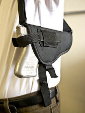 Beretta Cougar 8040 8045 | Nylon Horizontal Shoulder Holster w/ Double Mag Pouch