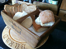 (NEW) OLD COUNTRY FARMHOUSE RUSTIC WOODEN BASKETS SMALL / MEDIUM / LARGE SHABBY