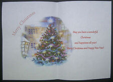 V6 Christmas tree card Inserts pack of 10