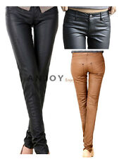 2012 New Women Fashion Slim PU Leather Skinny Pencil Pants Trousers