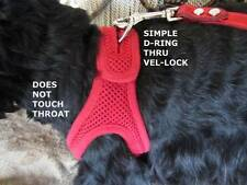CHOKE FREE STEP IN SHOULDER COLLAR DOG HARNESS - VEL PRO LOCK MESH - RED