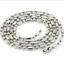 Stainless Steel Chain Titanium Ball Bamboo O Ring Necklace Hot Sell Multi-Width