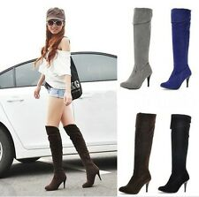 2015 Hot Fashion woman sexy high-heeled knee boots Knight boots high boots boots