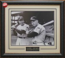 Mickey Mantle & Joe DiMaggio 1951 New Yankees Photo Framed