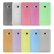 0.3mm Ultra Slim Thin Frost Soft TPU Back Cover Case Pouch Skin For HTC ONE M7