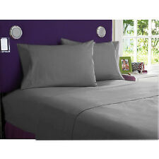 ALL SIZE 1000 TC ALL BEDDING ITEMS-DONNA,FITTED,FLAT @EGYPTIAN COTTON (GRAY)