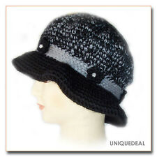 New Fashion WOMEN CROCHET CHEMO WINTER WARM HAT BEANIE / BLACK Q115