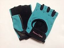 Women's TURQUOISE BLUE Femme Fitale Fingerless Gloves Weigh Lifting, Fitness Gym