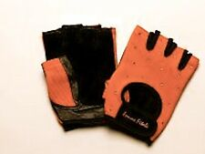 Women's TIGER ORANGE Femme Fitale Fingerless Gloves Weigh Lifting, Fitness Gym