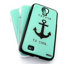 #19 For Samsung Galaxy S4 Snap On Plastic Case Cover REFUSE TO SINK ANCHOR hope