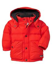 NWT Baby GAP Hooded Warmest Puffy Plush Down Fill Jacket Coat  NEW Poster Red