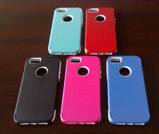 New Hot Hard + Soft 2-Piece Combo TPU Plastic Protector Case Cover For iPhone 5
